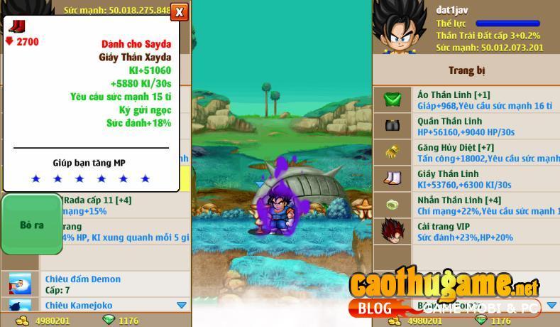 đặt nick Dragon Ball Online