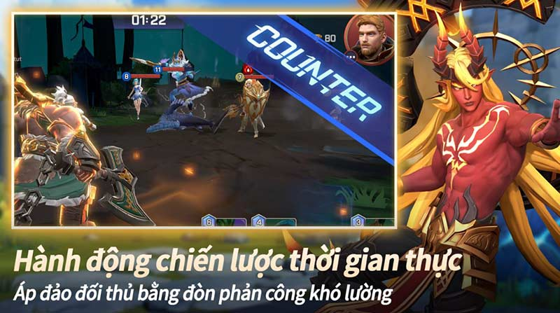Game chiến thuật hay cho android Summoners War: Lost Centuria Counter gameplay