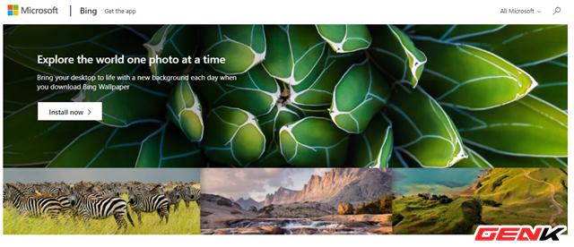 Microsoft đã phát hành ứng dụng Bing Wallpaper với hình ảnh stock khổng lồ cho Windows 10 - Ảnh 2.