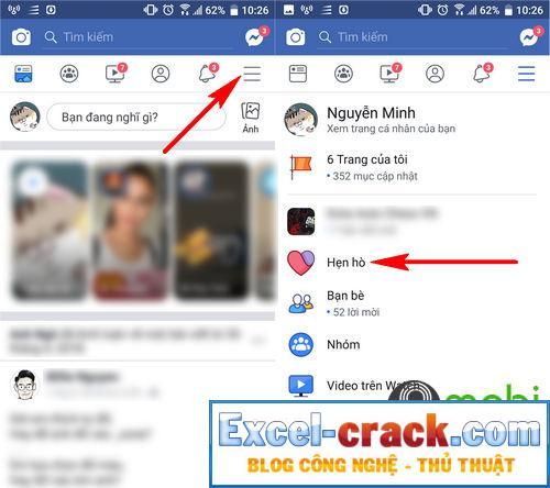 Hướng dẫn sử dụng facebook hẹn hò facebook hẹn hò 2