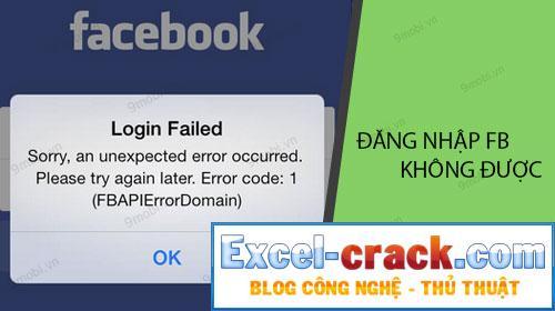 Không thể đăng nhập vào Facebook trên điện thoại của bạn nữa