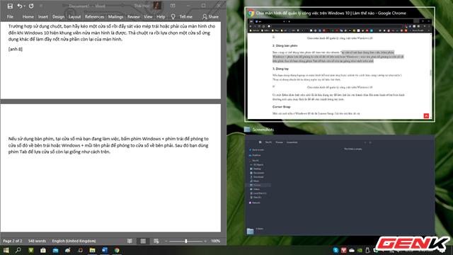 Windows 10 có chức năng chia màn hình giống như trên macOS, thậm chí còn linh hoạt hơn - Hình 1.