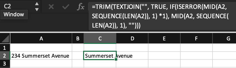 Cách xóa số khỏi văn bản trong ô Excel