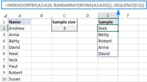 Cách lấy dữ liệu ngẫu nhiên không trùng lặp trong Excel
