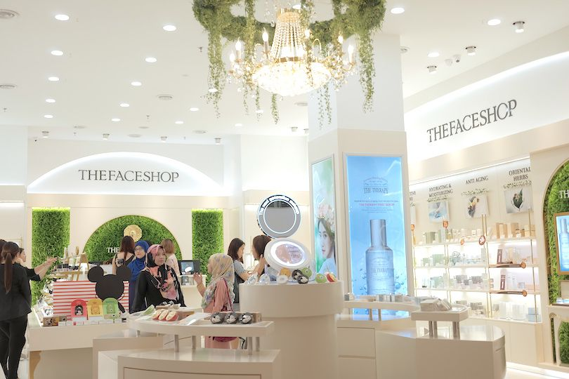 The Face Shop showroom