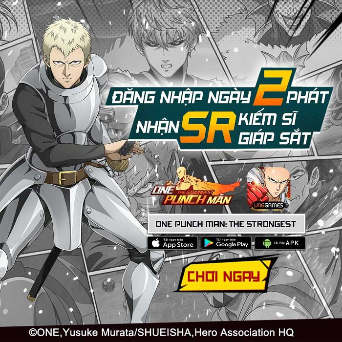 Tặng ngay 500 giftcode One Punch Man: The Strongest mừng ra mắt thành công 0