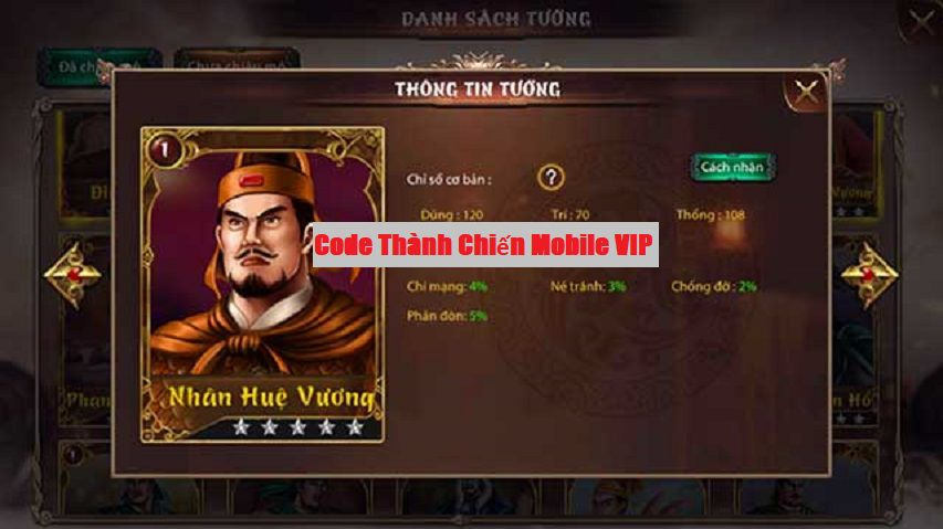 Code Thành Chiến Mobile VIP 2021 – Share Giftcode Thành Chiến Mobile mới nhất