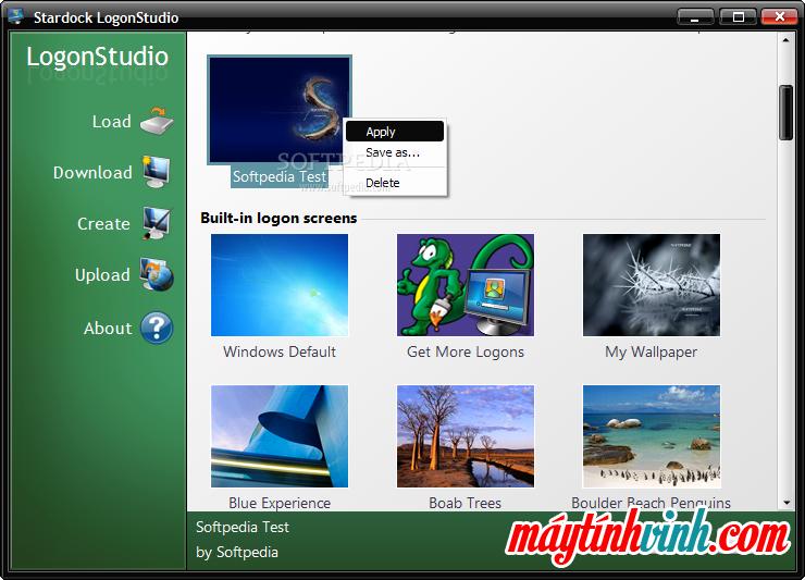 Phần mềm LogonStudio Visa cho Windows 7