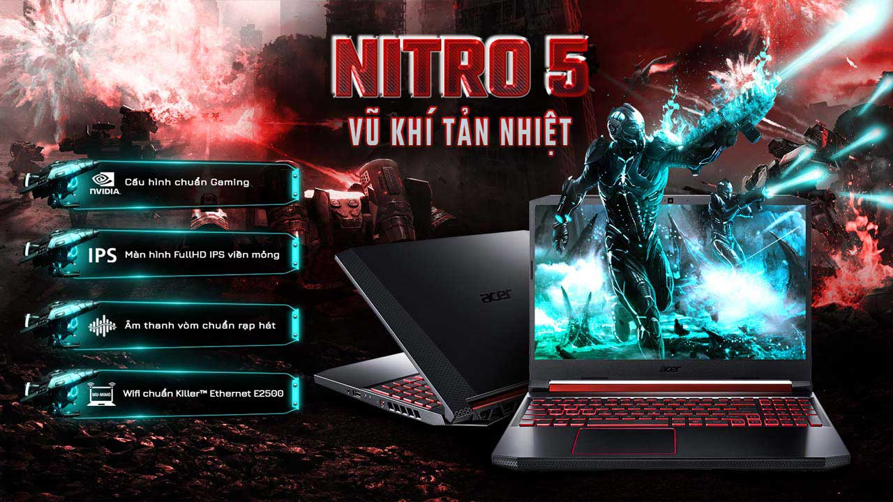 Tổng quan Laptop Acer Nitro 5 AN515-54-59WX (NH.Q59SV.012) 1