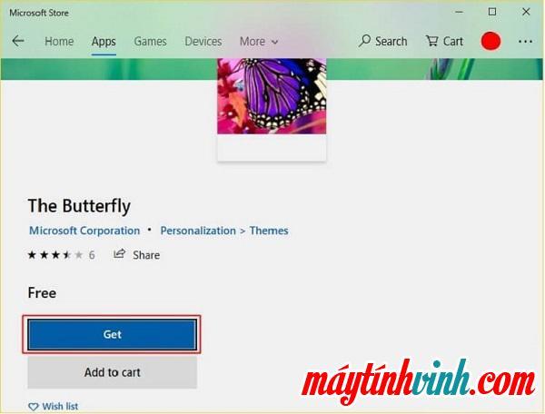 Nhấn Get hoặc Install để có thể tải giao diện về máy