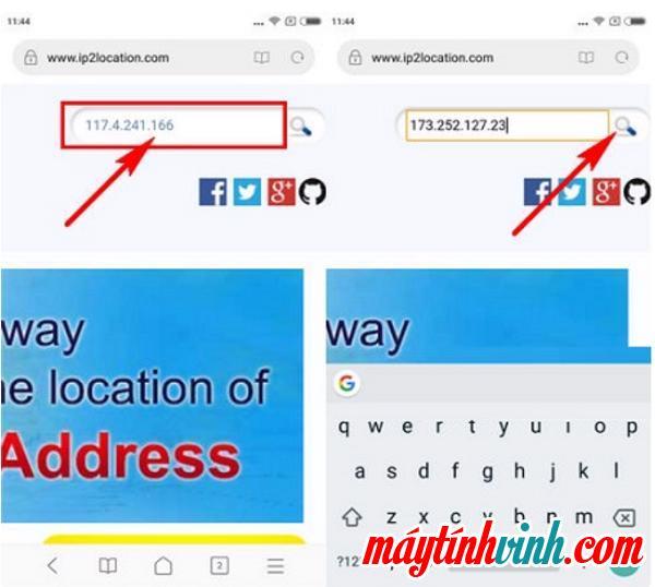 Đăng nhập vào theo dõi vị trí IP www.ip2location.com