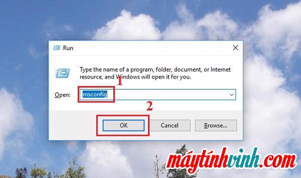 "Run -> từ khóa msconfig -> bấm OK"" style=""width: 600px;"" title=""Run -> từ khóa msconfig -> bấm OK""></p> <p style="