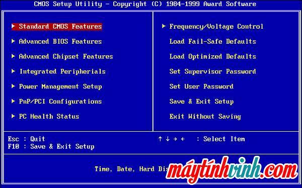 Cách vào BIOS theo bo mạch chủ