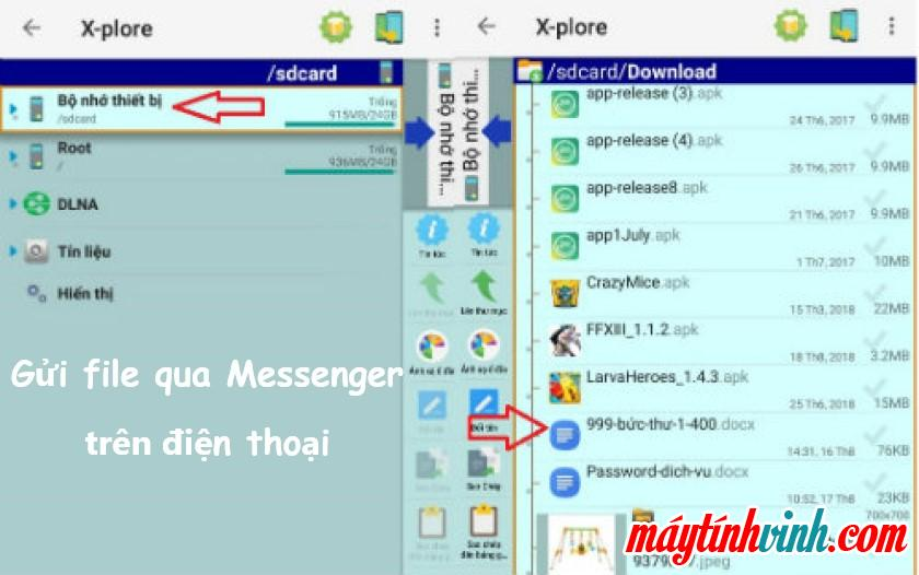 Gửi tệp trên Messenger