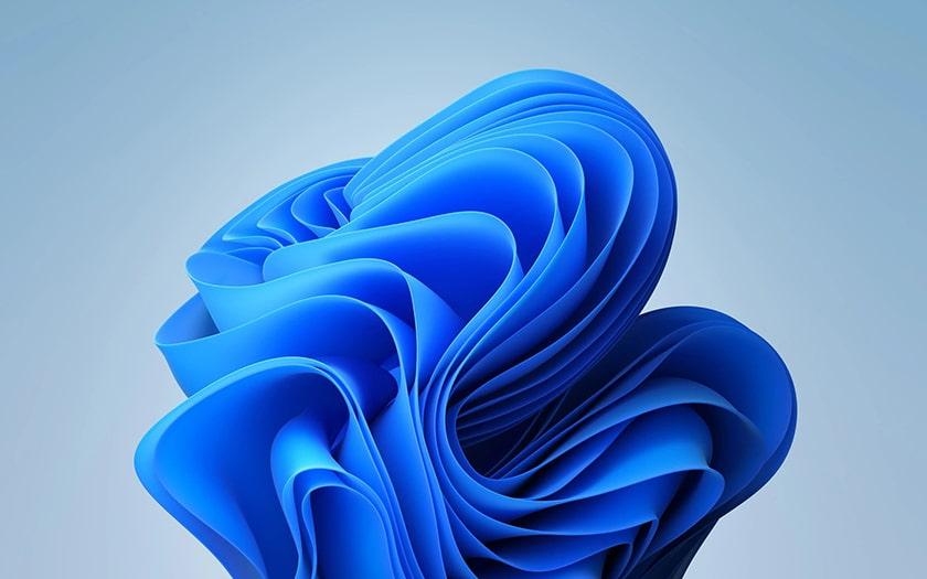 Hình nền Windows 11 với họa tiết 3D