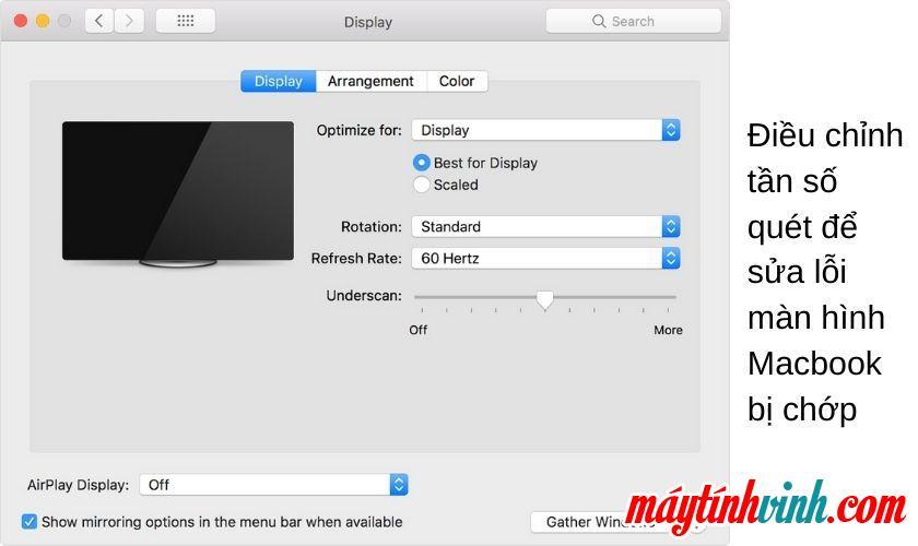 Lỗi màn hình Macbook chập chờn