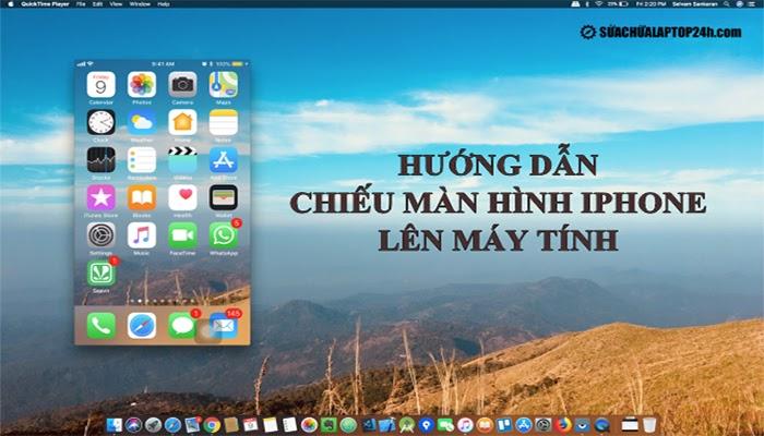 Chiếu màn hình lên máy tính