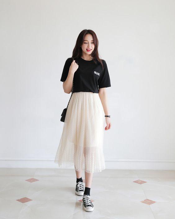 Trang phục với giày Converse nữ