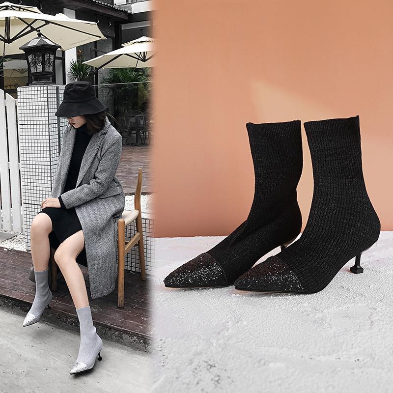phối với giày cao cổ nữ sành điệu