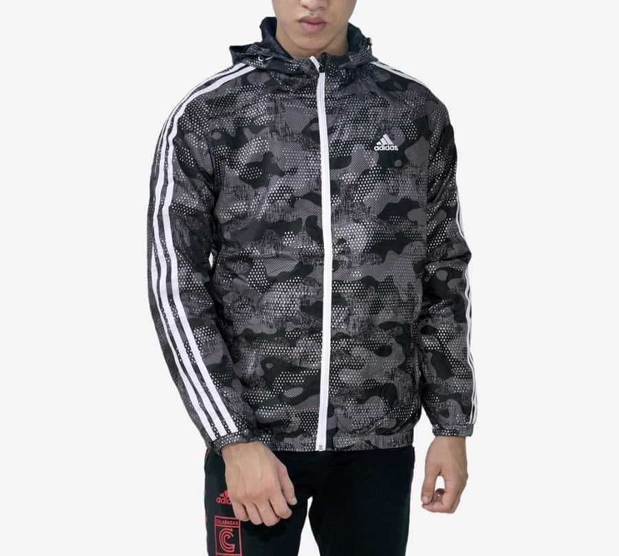 Áo khoác dù họa tiết Adidas áo