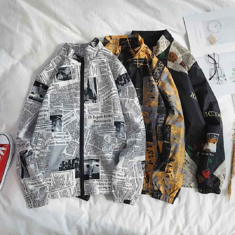áo khoác nam hoa văn |