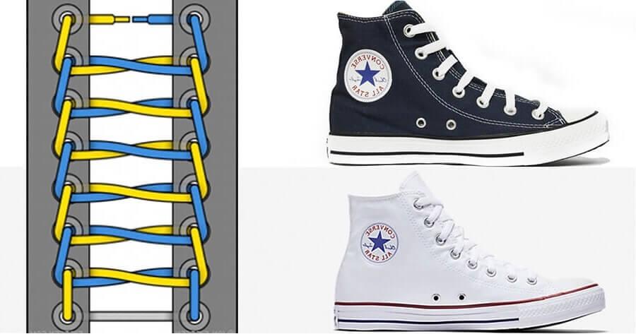 Tìm hiểu 2 cách buộc dây giày Converse cổ cao cực bụi