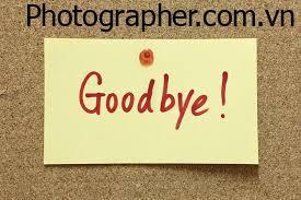 Tổng hợp những hình ảnh tạm biệt đẹp nhất