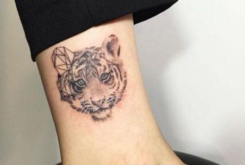 Hình xăm con hổ dễ thương