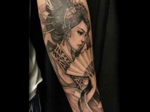 Những mẫu hình xăm Geisha Nhật Bản đầy kiêu hãnh và