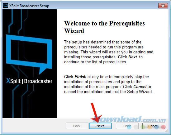Cách cài đặt phần mềm XSplit Broadcaster