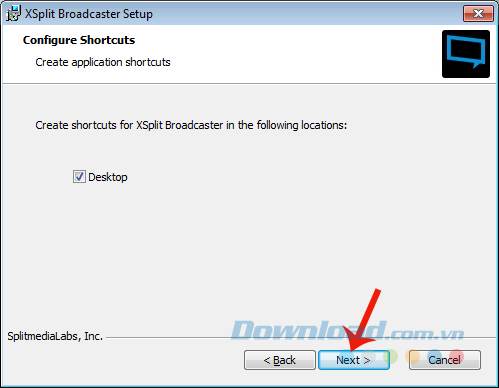 Cài đặt XSplit Broadcaster