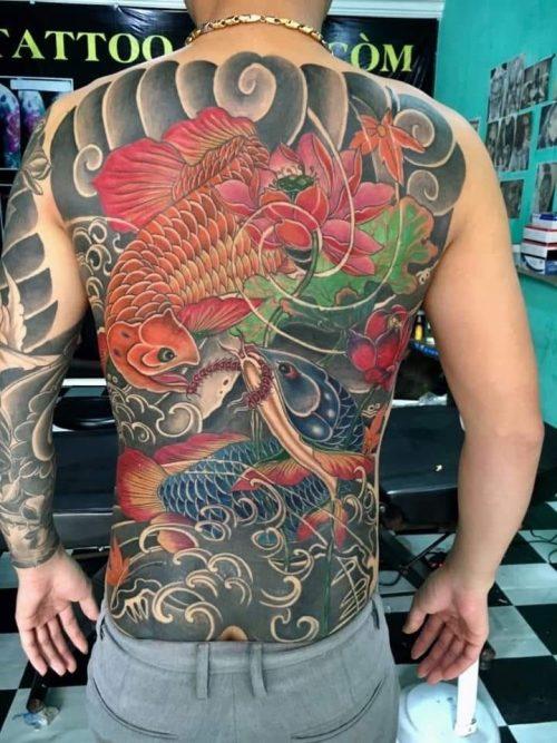 Hình Xăm Cá Rồng Cho Nam