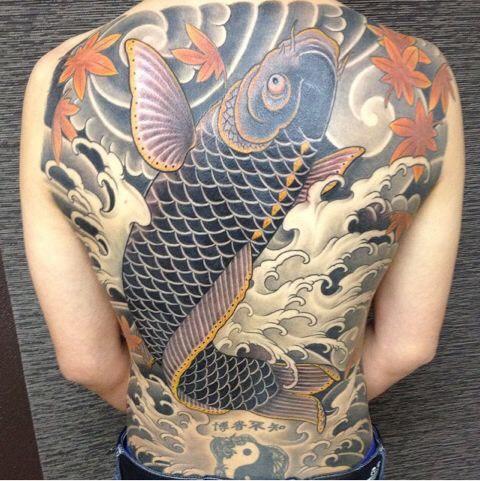 Hình xăm cá rồng (6)