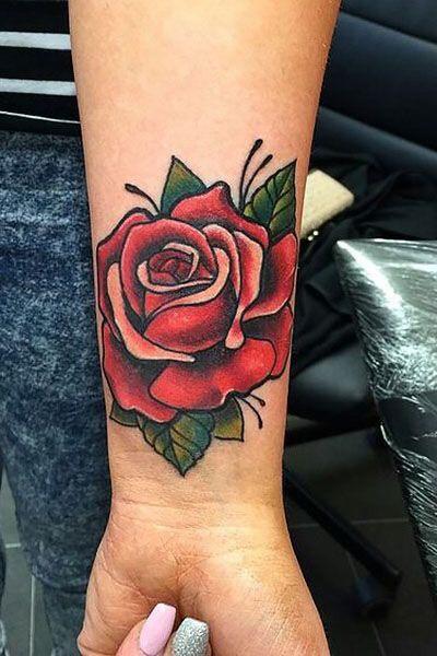 Hình xăm hoa hồng (8)