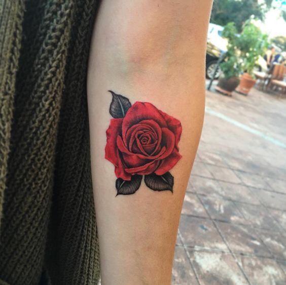 Hình xăm hoa hồng (9)