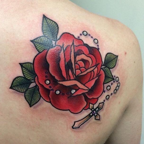 Hình xăm hoa hồng (6)