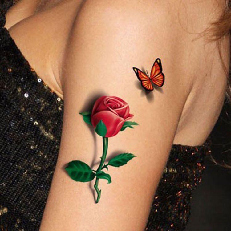 Hình xăm hoa hồng (13)