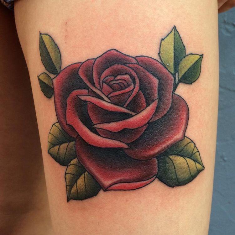Hình xăm hoa hồng (5)