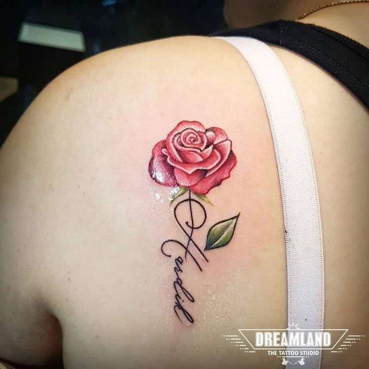 Hình xăm hoa hồng (16)