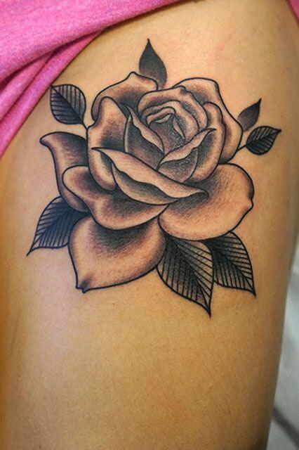 Hình xăm hoa hồng (1)