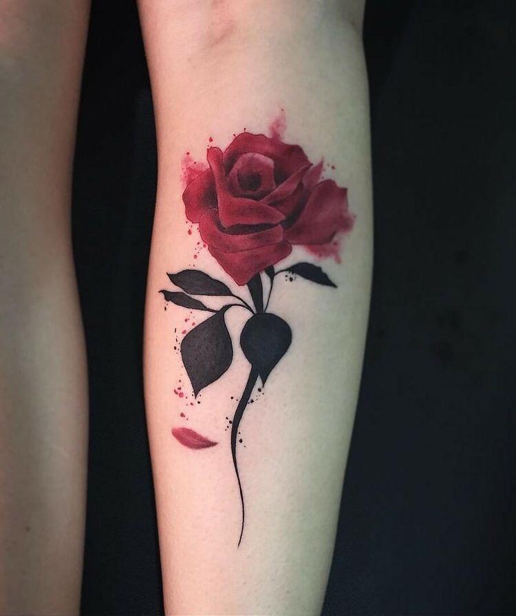 Hình xăm hoa hồng (23)