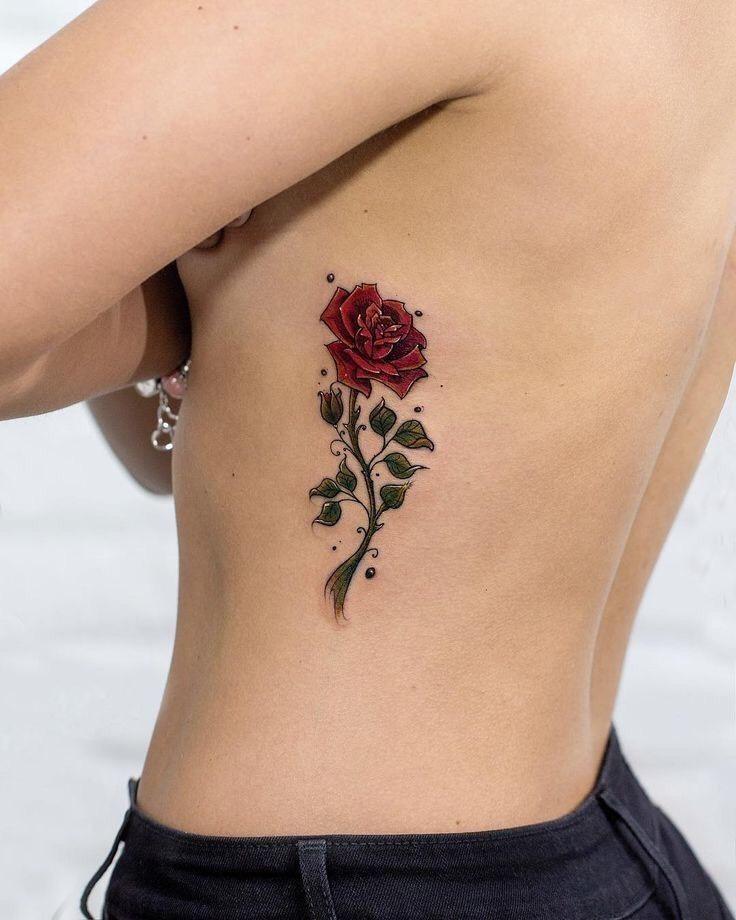 Hình xăm hoa hồng (24)