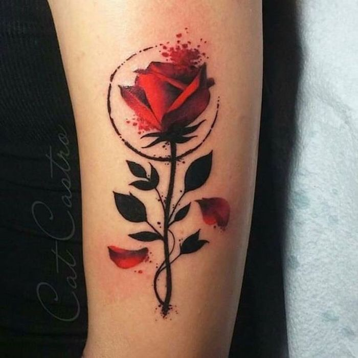 Hình xăm hoa hồng (25)