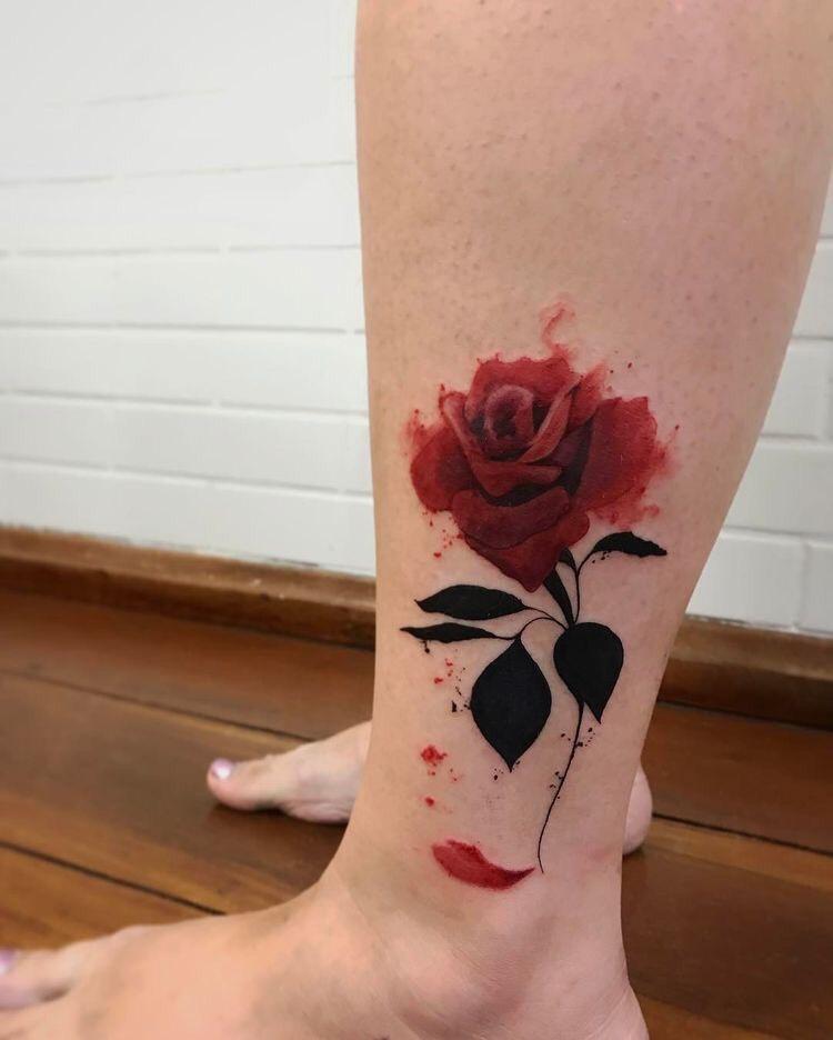 Hình xăm hoa hồng (26)