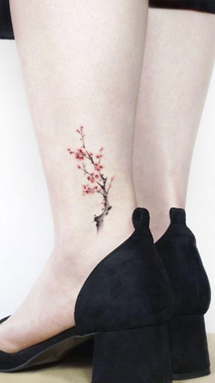 Hình xăm mắt cá chân cho nữ (31)