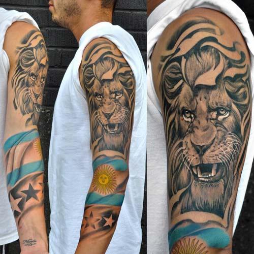 Hình xăm sư tử đẹp