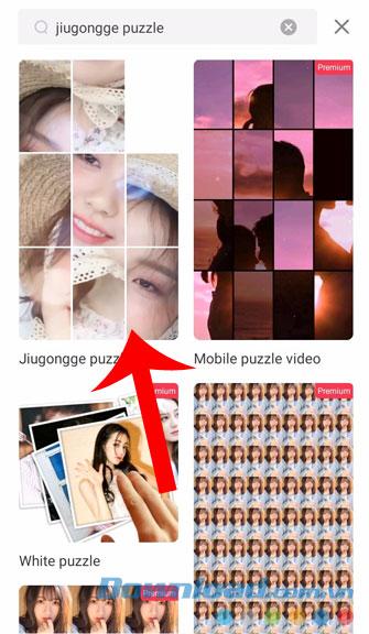 Chọn hiệu ứng câu đố Jiugongge