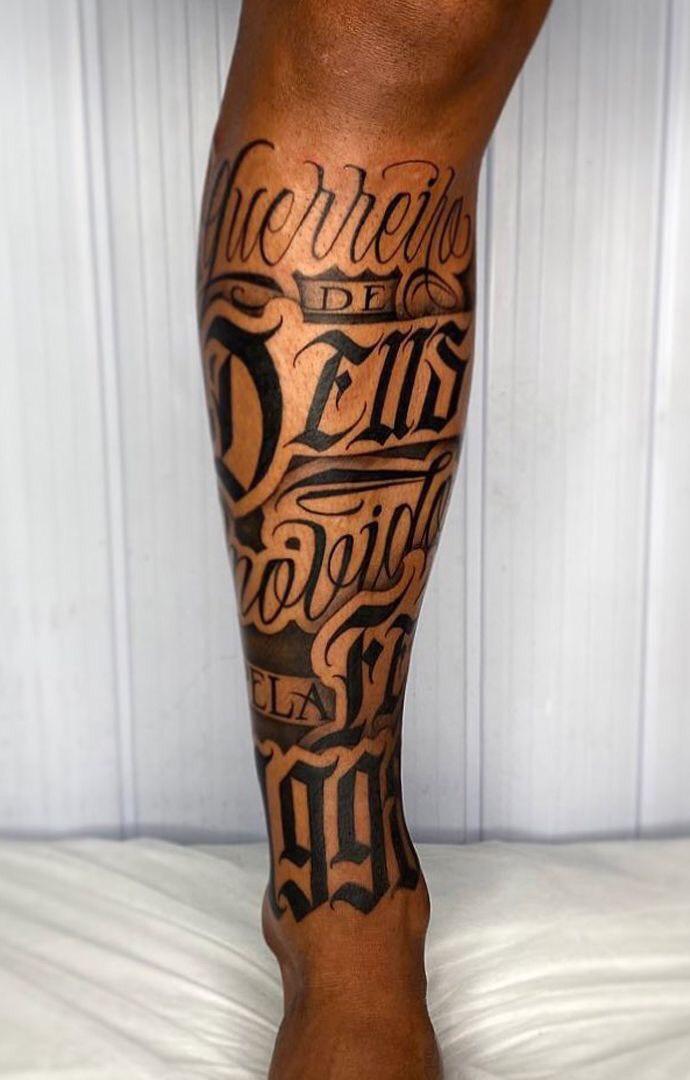 Hình xăm bắp chân cho nam (6)