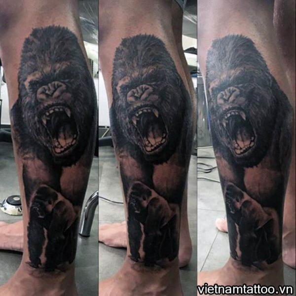 Hình xăm King Kong cho nam