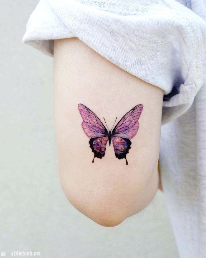 hình xăm bướm đẹp, hình xăm đẹp và ấn tượng nhất
